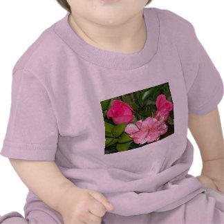 Roses et orchidées t-shirt