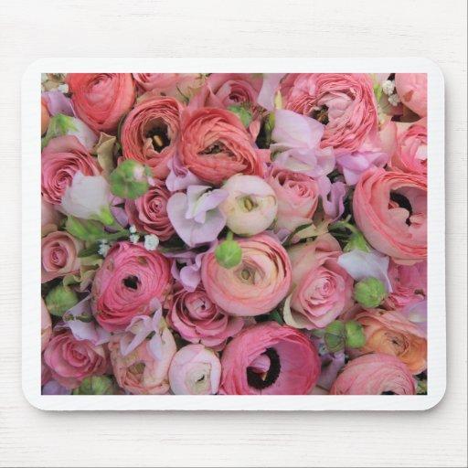 roses et pivoines roses par Therosegarden Tapis De Souris