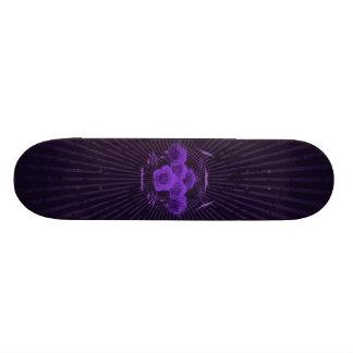 Roses et tribaux pourpres : Planche à roulettes fa Skateboard