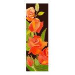 Roses : Étiquette/signet de cadeau de Merci Carte De Visite