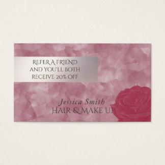 Roses fascinants d'aquarelle de carte de référence