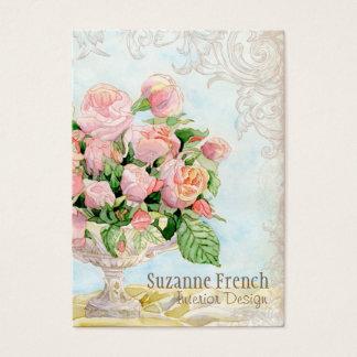 Roses français somptueux élégants vintages cartes de visite