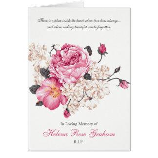 Roses funèbres de cru de carte de remerciements