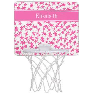 Roses indien 2 étoiles BG blanche, monogramme Mini-panier De Basket