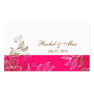 Roses indien et carte de visite élégant de mariage