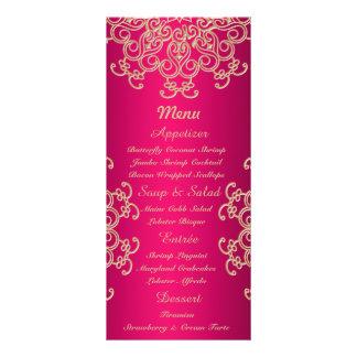 Roses indien et cartes indiennes de menu de style modèle de carte double