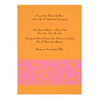 Roses indien et faire-part de mariage floral orang