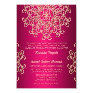 ROSES INDIEN ET FAIRE-PART DE MARIAGE INDIEN DE