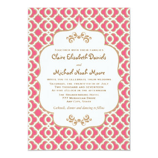 Roses indien et invitations marocaines de mariage carton d'invitation  12,7 cm x 17,78 cm