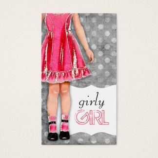 Roses indien Girly de poupée de fille de la Cartes De Visite