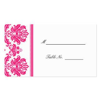 Roses indien mariage damassé posant Placecards Modèles De Cartes De Visite