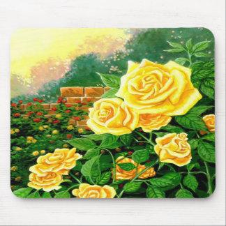 Roses jaunes Mousepad Tapis De Souris