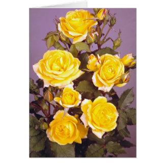 Roses jaunes parfaits carte de vœux