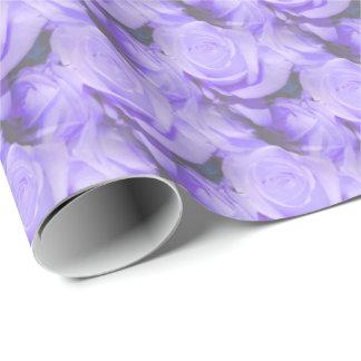 Roses lilas papier cadeau