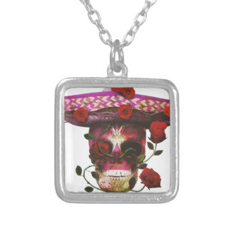 Roses mexicains de crâne collier