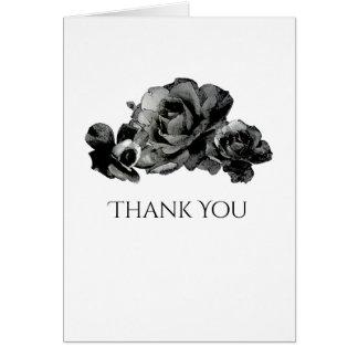Roses noirs d'aquarelle épousant le carte de