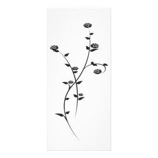 Roses noirs et blancs épousant le programme modèle de carte double