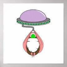 Roses pâles de transport d'UFO Posters