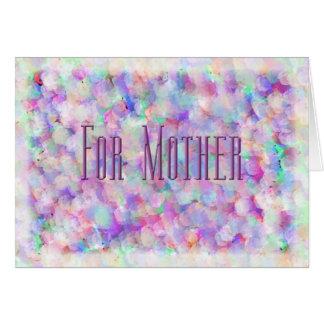 Roses pour ma mère carte de vœux