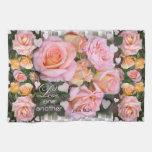 Roses pour ma serviette de cuisine de ~ d'amour serviette pour les mains