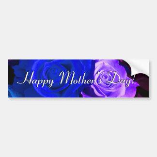 Roses pourpres bleus heureux du jour de mère adhésifs pour voiture