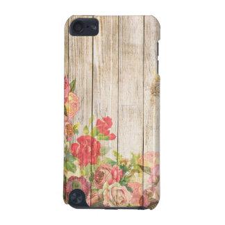 Roses romantiques rustiques vintages en bois coque iPod touch 5G