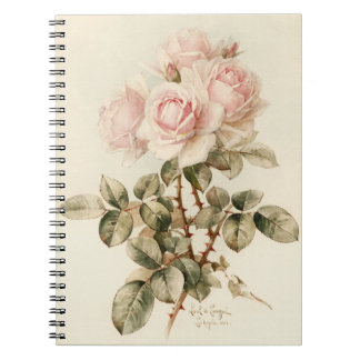 Roses romantiques victoriens vintages carnet