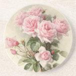 Roses romantiques victoriens vintages dessous de verre