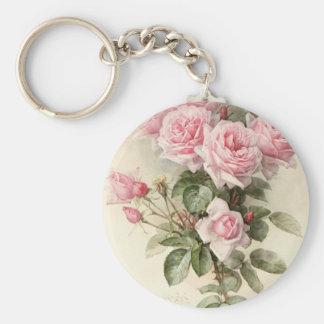 Roses romantiques victoriens vintages porte-clefs