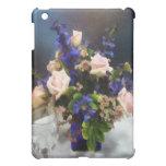 Roses roses et delphinium pourpre coque pour iPad mini