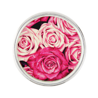 Roses roses romantiques épinglette