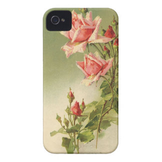 Roses roses vintages de jardin pour la coques iPhone 4 Case-Mate
