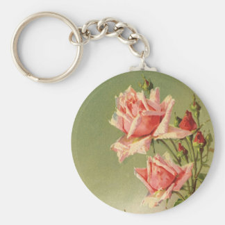 Roses roses vintages de jardin pour la porte-clés