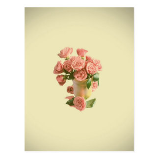 Roses roses vintages. Rétros fleurs Cartes Postales