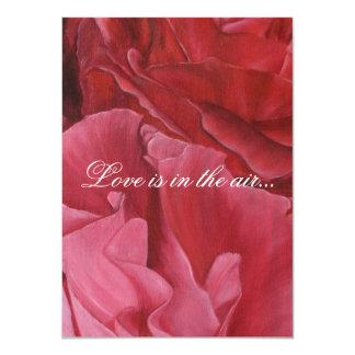 Roses rouges élégants chics épousant des carton d'invitation  11,43 cm x 15,87 cm