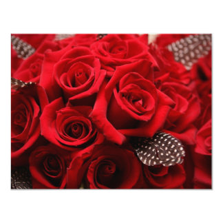 Roses rouges épousant la carte 2 de RSVP Faire-parts