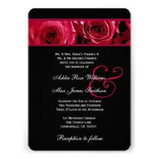 Roses rouges et noirs élégants épousant V08 Bristol