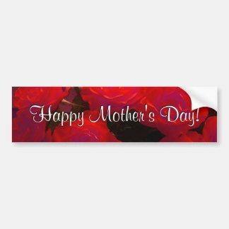 Roses rouges heureux du jour de mère adhésifs pour voiture