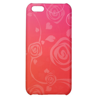 Roses rouges modernes coques iPhone 5C