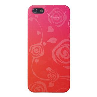 Roses rouges modernes étui iPhone 5