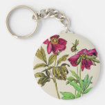 Roses sauvages porte-clefs