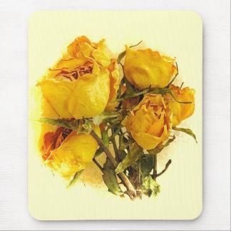 Roses secs tapis de souris