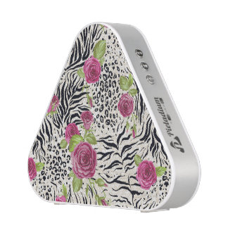 Roses sur le motif animal haut-parleur bluetooth