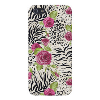 Roses sur le motif animal iPhone 5 case