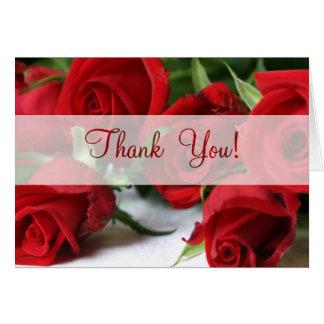 Roses tout le carte de remerciements d'occasion