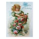 Roses victoriens de rose de carte postale de joyeu