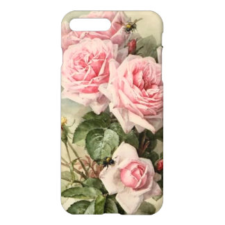 Roses victoriens roses chics minables coque iPhone 7 plus