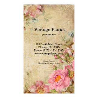 Roses vintages carte de visite standard
