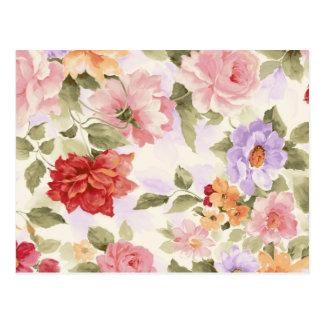 Roses vintages d'aquarelle carte postale