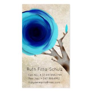 Roses vintages de bleu de cartes de visite carte de visite standard